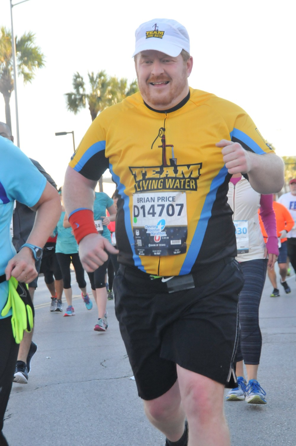Team Living Water: Brian Price   Chevron Houston Marathon